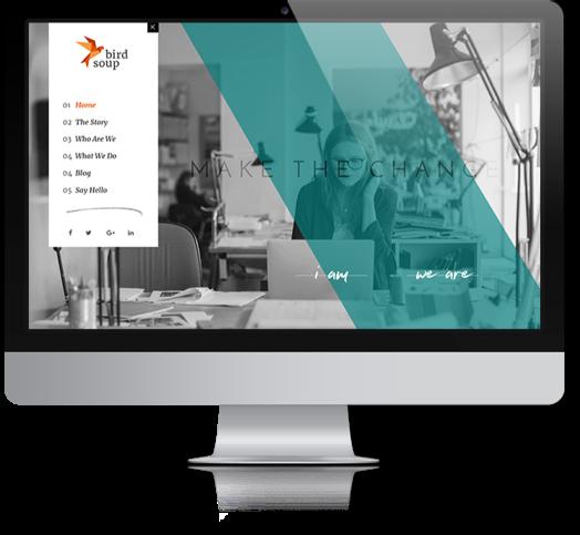 Birdsoup Website Mock-Up